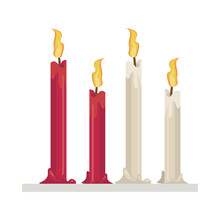 Candles Fire Flames Isolated I...