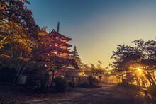 Dawn View Of  Chureito Pagoda ...