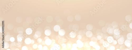 Obraz attractive golden background with bokeh light effect - fototapety do salonu