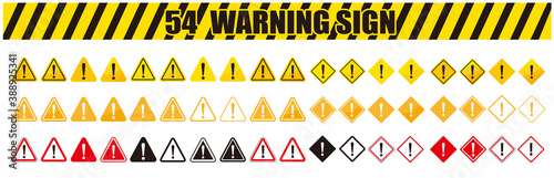 Fototapeta warning sign icon vector triangle obraz