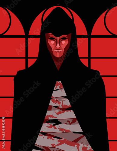 Fotografie, Obraz red masque of death edgar alan poe horror tale