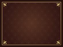 ダマスク模様 豪華なフレーム枠 カード