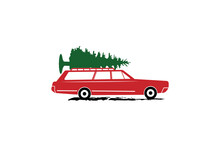 Christmas Station Wagon, Cut Files, Christmas Truck Svg, Griswold Family Christmas, Christmas Svg, Vintage Truck Svg, Merry Christmas