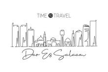 One Single Line Drawing Of Dar...