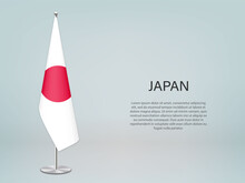Japan Hanging Flag On Stand. T...