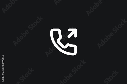 phone outgoing vector icon Fotobehang