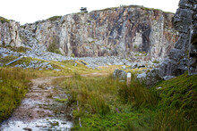 Entrance To The Cheesewring Quarry On The Eastern Edge Of Bodmin Moor Near Minions, Cornwall, England, UK.