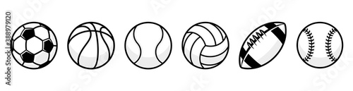 Fotografiet Sport balls set