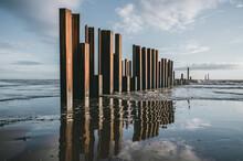 Large Rusty Steel Construction...