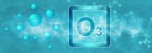 O3 Symbol. Ozone Molecule