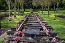 A Section Of The Burma Railway At The National Arboretum Memorial, UK