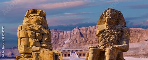 Foto Colossi of Memnon, Luxor, Thebes