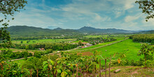 Panoramic View Of Mae Sariang District, Mae Hong Son Province, T