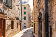 Traditional Narrow Street In E...