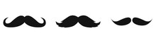 Old Style Mustaches Vector Icon Isolated On White Background
