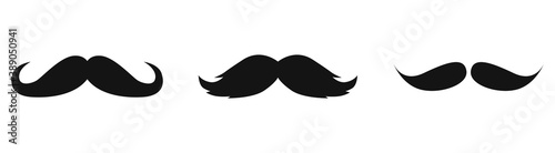 Obraz Old style mustaches vector icon isolated on white background - fototapety do salonu
