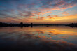 Barwny poranek nad Stawami Dojlidzkimi, Podlasie, Polska