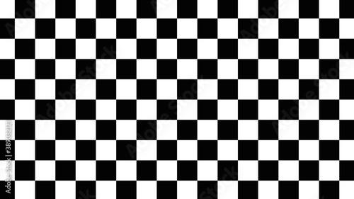 black and white chess board Billede på lærred