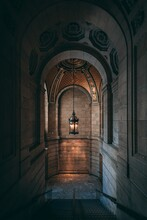 Interior Architecture Of The New York Public Library In Midtown Manhattan, New York City