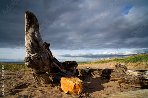 Canvas Print Ayr Beach is located on the western coastline of Ayrshire in the south west of Scotland