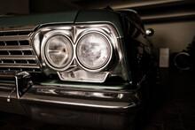 クラシックカー アメ車 ヘッドライト 横