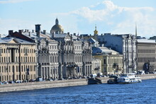 Palace Embankment Neva River. ...