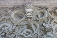 Old Chinese Dragon Stone By Ca...