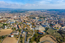 Aerial View Of Solsona From Castellvell. Lleida Spain.