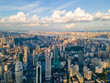 Cityscape of Wuhan city with cloud.Panoramic skyline and buildings.