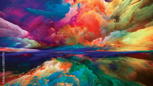 Obraz Painted Dreamland - fototapety do salonu