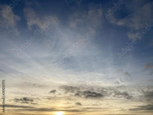 ciel de fin du jour Fototapet