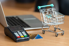 Payment Terminal On Table In T...