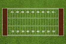 American Football Field With H...