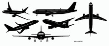 Set Of Airplane Silhouette Or ...