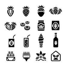 Strawberry Icon Vector Icon, S...