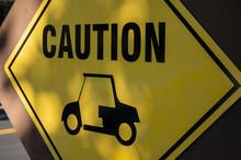 Golf Cart Crossing Warning Sign