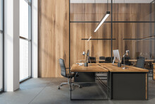 Wooden Office Tables With Comp...