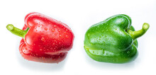 Red And Green Pepper  In Group...