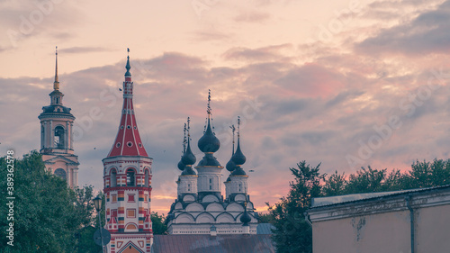 Traditional church building in Suzdal', Golden Ring of Russia
