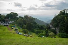 Tourists Camping Sri Nan National Park Doi Samer Dao Nan Province Thailand On October 11,2020