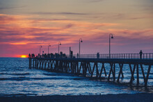 Glenelg Jetty With People At S...
