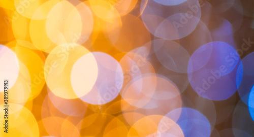 Fotografía Bokeh Hintergrund in den Farben Gelb und Blau