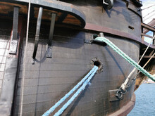 Side Of The Reconstruction Of An Old Galeon