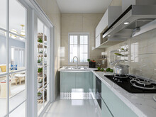 Spacious And Beautiful Kitchen...