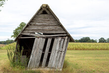 Old Wooden Shack In The Fields