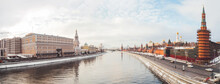Panorama View Of Moscow-river,...