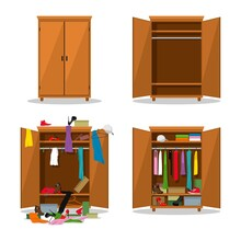 Close And Open Wardrobe Set, B...
