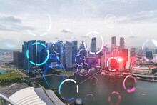 Abstract Technology Icons Holo...