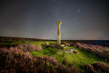 Milky Way And Foreground Cross At North York Moors, Rosedale, UK.