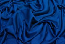 Crumpled Blue Fabric Backgroun...